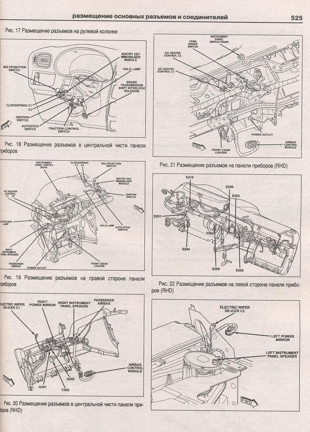 схема замка зажигания chrysler voyager